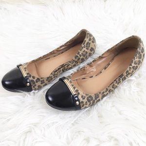 Tommy Hilfiger Cheetah Print Flats Shoes 10M